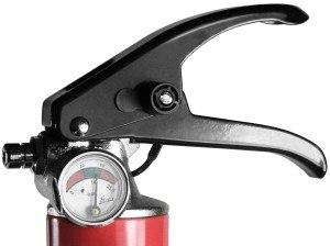 Smartwares Feuerlöscher 6 Kg, Pulverlöscher mit Manometer, SW BB6