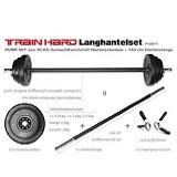 Das TrainHard LanghantelSet Aerobic Pump Set Hantelset 20kg hat den 6. Platz.