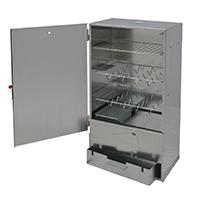 XL Räucherofen aus 0,8 mm starkem Metalll - ideal zum Räuchern und Garen von Fisch, Fleisch, Gemüse uvm.
