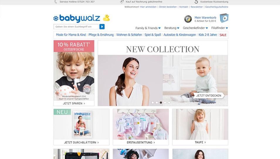 Online-Shop Babywalz