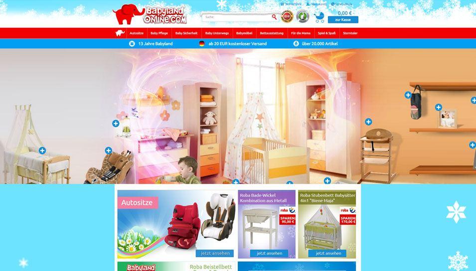 Baby-Online-Shop Startseite