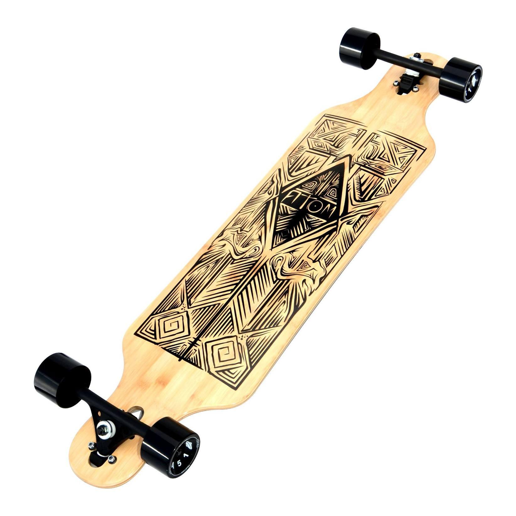 Longboard aus Bambus in Pin und Drop Form erhältlich