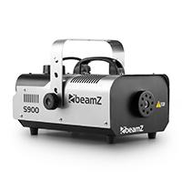 Professionelle Nebelmaschine mit 900W Leistung, 70m³ Nebelausstoß pro Minute und 5m Kabelfernbedienung.