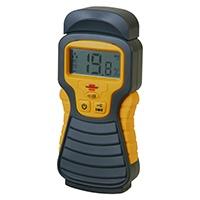 Zur Bestimmung des Feuchtigkeitsgehalts von Holz oder Baustoffen wie z.B. Beton, Ziegel, Estrich, Gipskarton, Tapeten, etc.