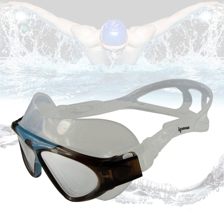 Ipow Schwimmbrille mit Schwimmer im Hintergrund