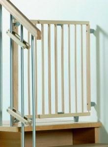 Es gibt verschiedene Arten von Treppenschutzgittern.