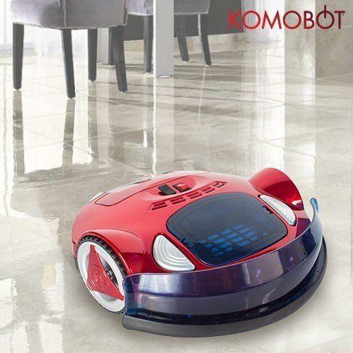 KomoBot Saugroboter im Test reinigt auf Plattenboden
