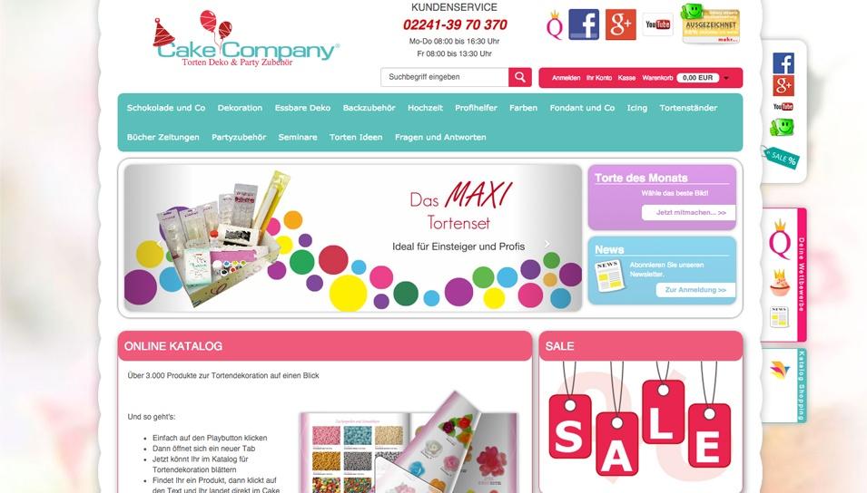 CakeCompany Internet Verkauf