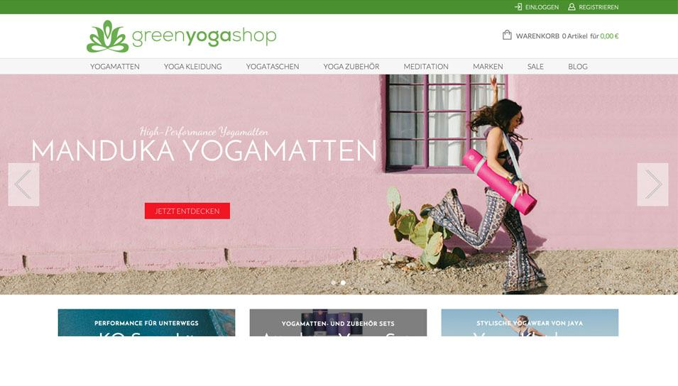 Green Yoga Internetseite