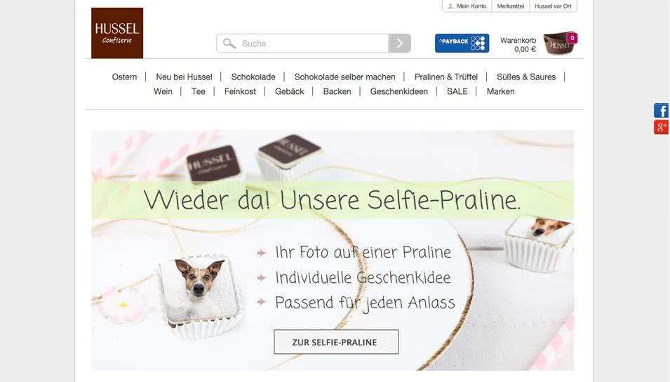 Hussel Schokolade Online-Shop