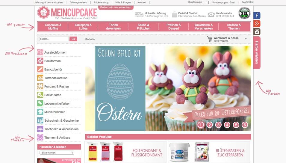 Seite von MeinCupcake