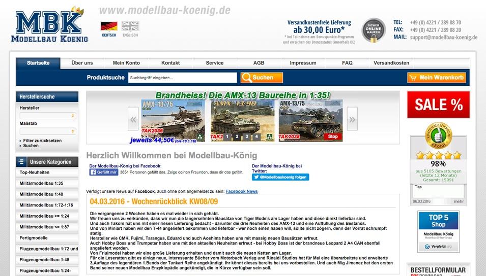 Onlineshop Modellbau König