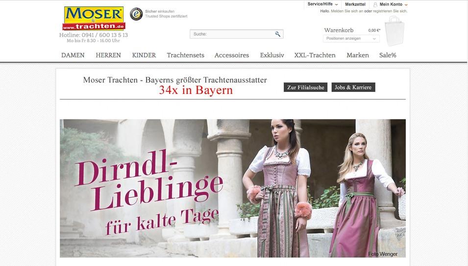 Moser Trachten Online Shop