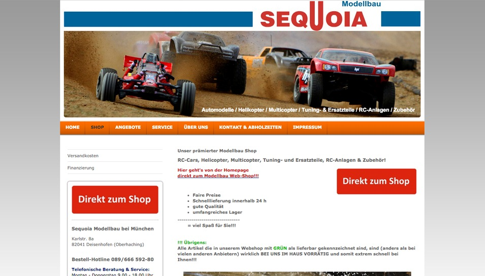 Onlineshop Sequoia Modellbau