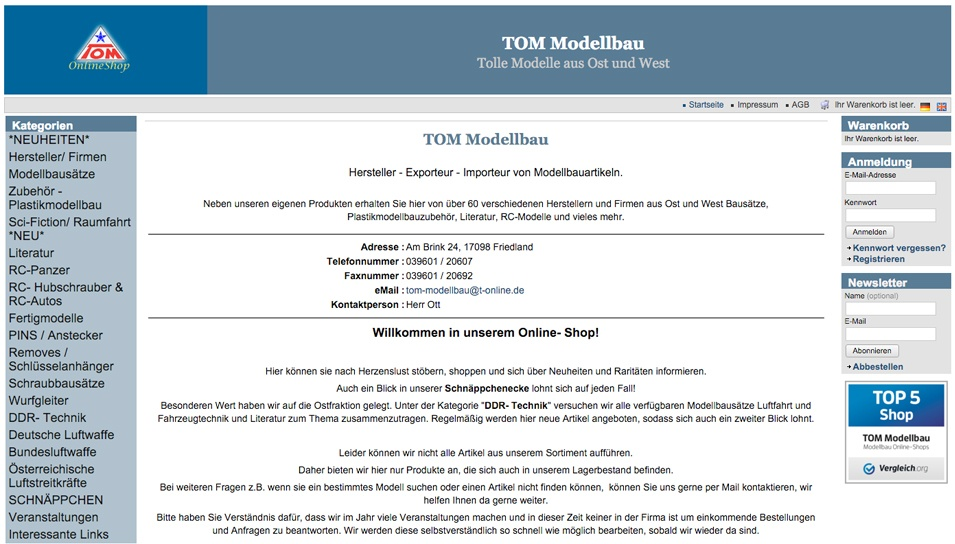 TOM Onlineshop
