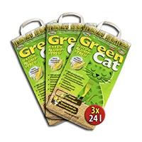 Naturklumpstreu, umparfümiert; besteht zu 100 % aus nachwachsenden pflanzlichen Rohstoffen.