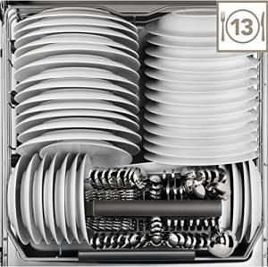 AEG F46300VI0 Geschirrspüler// Vollintegriert / Einbau / A++ / 262 kWh/Jahr / 10L / 13 MGD / Glaspflege- und Zeitsparprogramm / Aqua-Control [Energieklasse A++]