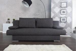 Design Schlafsofa BARCLAYS Anthrazit 200cm Bettkasten Gästebett Funktion