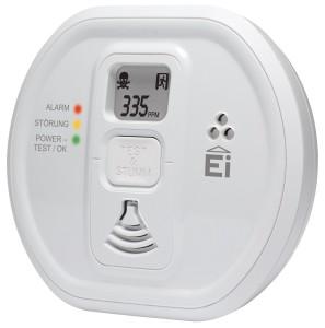 Ei Electronics Ei 207 D Kohlenmonoxidwarnmelder (mit LCD-Display, für Wohnung, Camping und Boot, 7 Jahre Produktlebensdauer) weiß, 1 Stück [Energieklasse A]