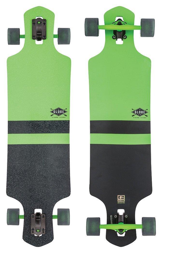 Longboard Deck und Base grün