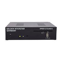 Der Golden Interstar Xpeed LX Class C ist Dank dem Combo Tuner ein digitaler Full HD DVB-C Kabel und Terrestrisch DVB-T/T2 (AVC H.264) Receiver für digitalen Empfang mit Conax Kartenleser und Netzwerkanschluß.
