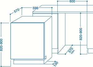 Indesit DFP 58T92 CA NX SK Unterbaugeschirrspüler// A++ / 265 kWh/Jahr / 14 MGD / 2520 Liter/Jahr / 42 dB (sehr leise) / nur 9 L - 0,93 kWh / edelstahl [Energieklasse A++]