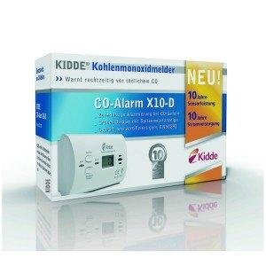 KIDDE CO-Alarm X10-D mit Display Kohlenmonoxidmelder, weiß, 13775