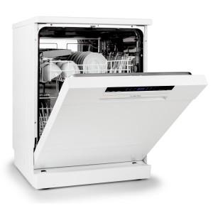 Klarstein Amazonia 60 Geschirrspülmaschine 60cm Einbau Spülautomat A++ Spülmaschine (1850W, 12 Maßgedecke, 49 dB, einstellbare Startzeitvorwahl, unterschiedliche Programme, inkl. Besteckkorb, Zusatzauflage und Aquastop) weiß [Energieklasse A++]