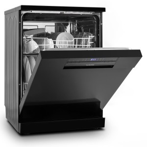 Klarstein Amazonia 90 Geschirrspüler 60cm Geschirrspülmaschine Freistehende Spülmaschine (A++, 1850W, für 12 Maßgedecke, leise 49 dB, Startzeitvorwahl, inkl. Besteckkorb, und Aquastop) schwarz [Energieklasse A++]