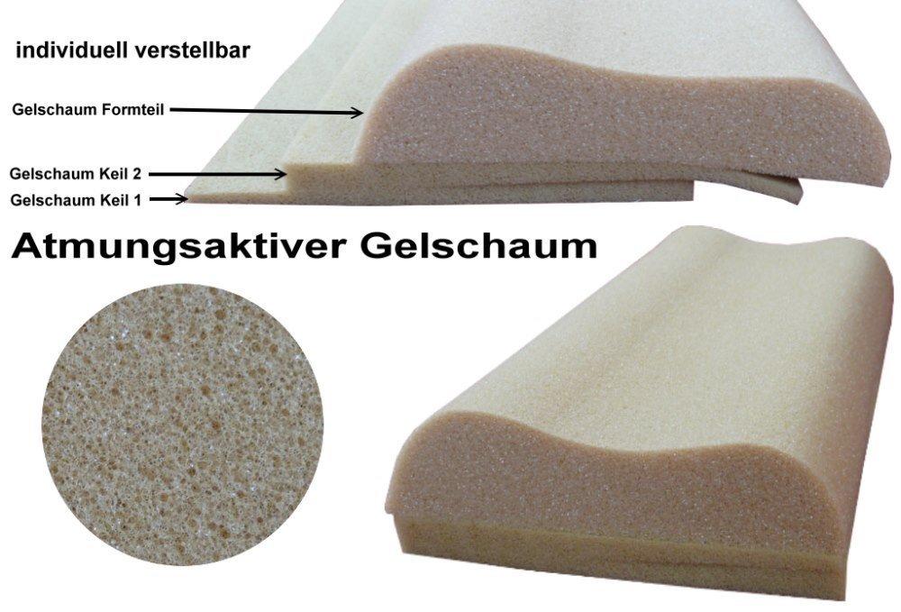 Kopfkissen-Gelschaum-verstellbar
