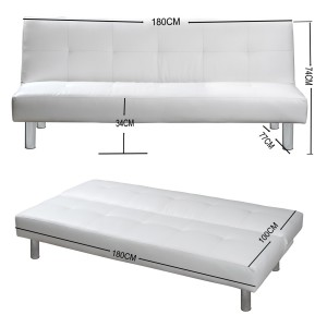 """MILA"" SCHLAFSOFA WEISS BETTSOFA SCHLAFCOUCH SOFA BETTCOUCH LOUNGE COUCH"