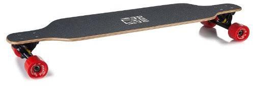 Komplettes Longboard in Seitenansicht.