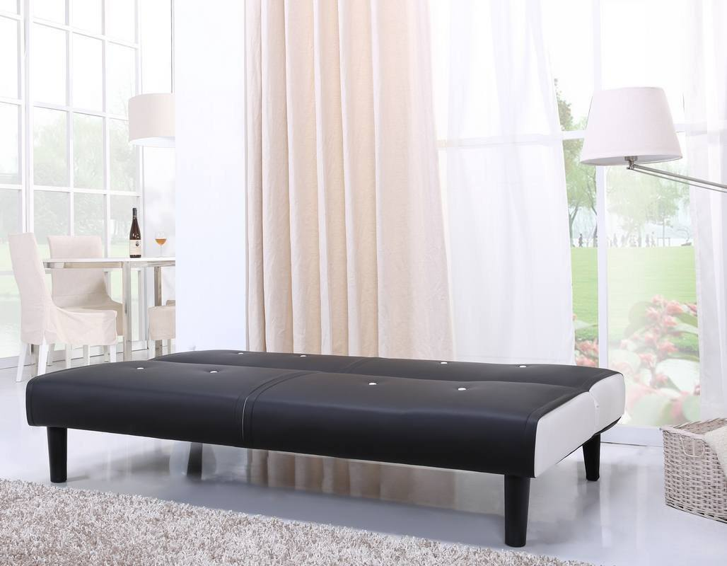 das neg design klappsofa helios in schwarz wei klassische optik mit pfiff expertentesten. Black Bedroom Furniture Sets. Home Design Ideas