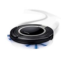 Der Philips SmartPro Compact Saugroboter FC8710 reinigt selbstständig. Dank Smart Detection System wird das Reinigungsmuster des Roboters optimiert und Ihr Zuhause gründlich gereinigt.