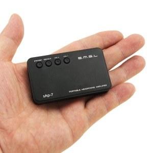 SMSL SAP-7 tragbare Kopfhörer Verstärker für Auto-Audio-System, mobile Lautsprecher, Smartphones, iPod Schwarz