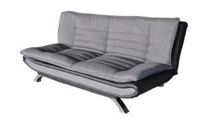 Schlafsofa Stoff dunkelgrau Sofa 3-Sitzer mit Schlaffunktion