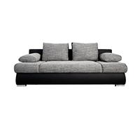 Das stylishe Design Schlafsofa ORLANDO von Invicta Interior: klassisch in Grau-Schwarz