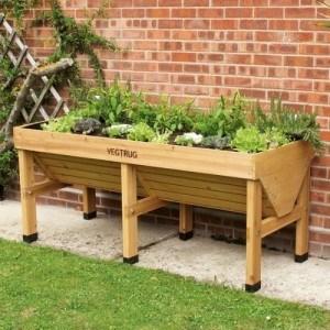 Vegtrug-im-Garten Hochbeet aus Holz