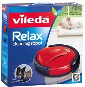 Vileda 142861 Relax - Saugroboter zur Zwischendurchreinigung - besonders leise und schonend zu Möbelstücken - für glatte Böden & kurzflorige Teppiche - 2 Jahre Garantie