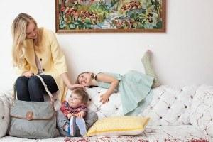 Wickeltasche-Familienausflug