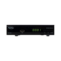 Der HD DVB‐C Receiver XORO HRK 7560 zeichnet sich durch sein kompaktes Gehäuse und den geringen Stromverbrauch aus.
