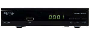 Xoro HRK 7560 Digitaler HD Kabel-Receiver (HDTV, DVB-C, HDMI, SCART, PVR-Ready, USB 2.0) schwarz