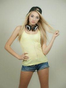 Mädchen-Kopfhörer