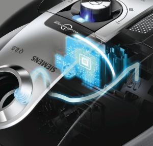 Staubsauger mit Beutel Power Sensor von Siemens in der Darstellung