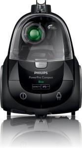Ansicht von einem Philips Staubsauger ohne Beutel PowerPro Compact FC8477/91 von oben