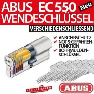 ABUS EC550 Zylinder 28/34 mm inkl 5 Schlüssel