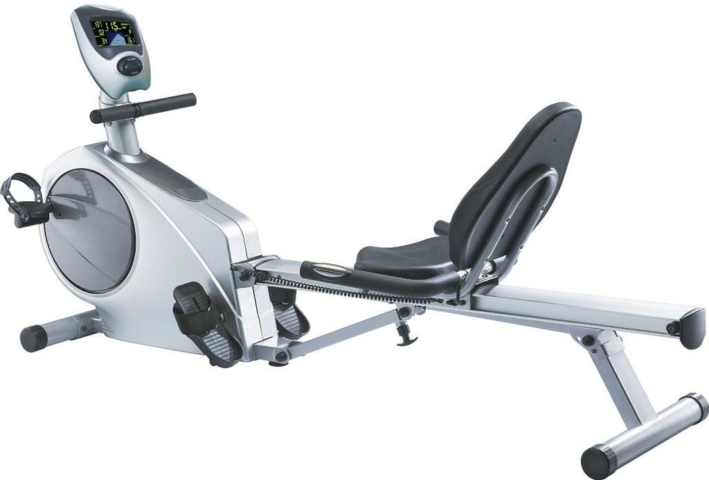 AsVIVA Rudergeraet Ergometer Rower Cardio VI-2in1 silber