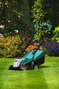 Bosch Home and Garden Akku-Rasenmäher Rotak 32 LI High Power, Akku, Ladegerät, Grasfangbox, Karton (36 V, Akku-Ladezeit: 90 Min, Schnittbreite: 32 cm, Schnitthöhe: 30-60 mm)