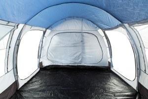 CampFeuer - Großes Tunnelzelt, Blau/Grau, 5000 mm Wassersäule, Campingzelt, Mod. 2017