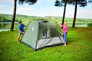 Coleman 2000009566 Zelt Instant Tent Tourer 4 Personen, grün (243 x 243 x 162 cm)